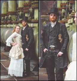 Bräutigam Anzug,gehrock, damenfrack, gehrock bräutigam, steampunk hochzeit, steampunk hochzeitskleid, steampunk hochzeitsanzug, bespoke, hochzeitskleid, brautkleid, korsett, corset, gothic, steampunk, bespokebride, korsett maßgeschneidert, brautkleid maßg